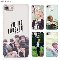 BINYEAE Bts bangtan Young forever Clear Cell Phone Case Cover for Apple iPhone 4 4s 5 5s SE 5c 6 6s