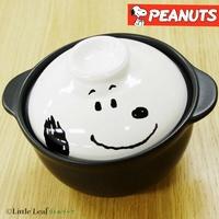 日本正版 Snoopy 史努比 單人 陶瓷砂鍋/土鍋/陶鍋/單人碗 《 PEANUTS 花生家族 》★ 日本製 ★ 夢想家 Zakka'fe