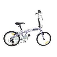 ALEOCA จักรยานพับได้ Alloy รุ่น Specifiche  ล้อ 20 นิ้ว, 6 Speed (สีม่วง) พร้อมไฟท้าย