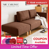 ELLISE 2 Seater and 3 Seater Fabric Sofa with Stool