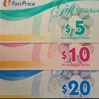 WANT TO SELL: NTUC FAIR PRICE VOUCHER AT 5% OFF