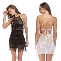 cross-border supply wish. lazada. independent stand hot new sexy neck tassel sequins cultivate ones