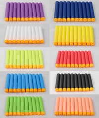 100 Pcs Hollow Soft Head 7.2cm Refill Darts for Nerf Series Blasters NEW STYLE Kid Toy Gun Clip EVA Bullets