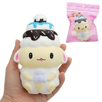 Ice Cream Sheep Squishy toy 10*15cm 71G Slow Rising With Packaging Collection Gift Soft Toy