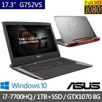 ASUS華碩   17.3吋電競筆電 i7-7700HQ/32G/512G+1T/GTX1070-8G (G752VS)