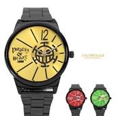 海賊王亮眼錶盤金屬手錶