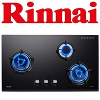 RINNAI RB-93UG 3-BURNER TEMPERED GLASS HOB