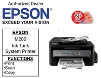 Epson M200 EcoTank  (MONO) Print,Scan &Copy with ADF) Printer ** Free NTUC $20 Vouchers Till  2nd Mar 2019 ** m200  m 200