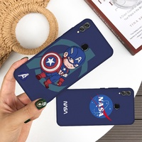 Cartoon Soft Case For Vivo X20 Plus X21i Y67 Y71 Y73 Y79 Y85 Z1 The Avengers Painted Protector Cover
