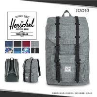 加拿大品牌Herschel學院風雙肩後背包LITTLE AMERICA大容量束口休閒包寬版背帶15吋帆布旅行包10014