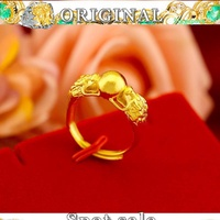 Ready stock Ring audi gold 916 pure gold 916