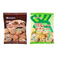 Nomura 野村煎豆 美樂圓餅 黑胡椒風味 芥末口味 餅乾 日本進口零食 JUST GIRL