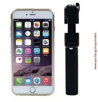 New Q1S Super Mini Mobile Phone Folding Foldable Fold Selfie Stick Monopod With Audio Cable Wired Fo