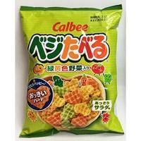 calbee 卡樂比 卡魯比 綠黃色野菜 蔬菜愛心型餅乾