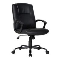 Smugdesk Office Ergonomic Office Chair Executive Bonded Leather Computer Chair, Black