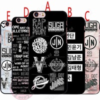 BTS Phone CaseDesign BTS Name Logo Hard Plastics Case Cover for Iphone/Samsung/Huawei(5 Styles)