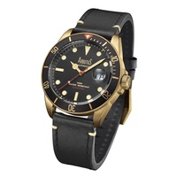 Arbutus ARBR01GBB Analog Automatic Black Leather Men Watch