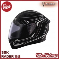 【安全帽先生】SBK 安全帽 SBK GP RADER 雷達 黑白 雙D扣 內襯可拆 內置遮陽片 全罩 買就送好禮三選一