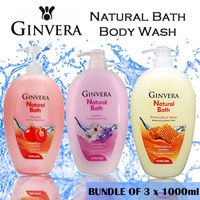 Ginvera Natural Bath Body Wash 1000ml x 3