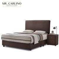 REON Canvas Fabric Divan Queen Size Bed Frame / Bed Frame Queen