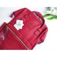 กระเป๋า Anello PU Backpack Wine (Classic Size) - Japan Imported แท้ 100%