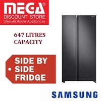 SAMSUNG RS62R5004B4 647L SIDE BY SIDE REFRIGERATOR / FRIDGE / FREE GIFT BY AGENT / LOCAL WARRANTY