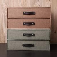 Nan heng contracted linen paper creative IKEA Storage drawer desk file cabinet storage double storag
