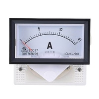 uxcell 85C17 Analog Current Panel Meter DC 15A Ammeter for Circuit Testing Ampere Tester Gauge 1 PCS , 85C17 DC 15A
