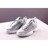 Korea_Fila _ _ ☆ _ FILA_Disruptor_II _ ☆destroyed _ II_Silver_street_tide_shoes