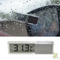 ❤SG❤ Electronic Clock Suction Cup Digital LCD Display Portable Durable For Home Car