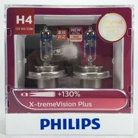 [機油倉庫]PHILIPS X-tremeVision Plus +130% (H4) 夜勁光 鹵素燈泡 $750元