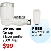 Philips WP3861 Pure Taste On tap water purifier + Free Filter WP3961 Worth SGD 49