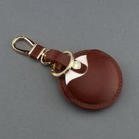 OMC專櫃品牌 義大利植鞣皮革(咖啡色)-gogoro鑰匙皮套 gogoro鑰匙套
