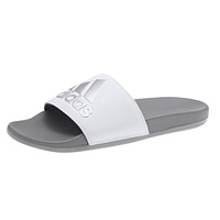 Adidas Adilette Cloudfoam男款灰白色拖鞋-NO.F34724