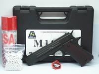 """ปืนบีบีกันอัดแกส Bell 723 (M1911A1) สีดำ พร้อมกล่องใส่ปืนฟรี"""" แกส+ลูกเซรามิค"""