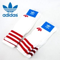 KUMO SHOES-現貨 adidas originals Socks 兩雙一組 襪子 長襪 小腿襪 紅白 紅 酒紅 白襪 CE5712