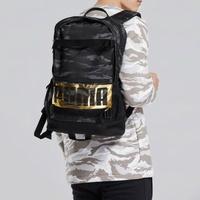 PUMA DECK 後背包 雙肩 燙金 迷彩 筆電夾 大容量 黑灰 【運動世界】 07470622