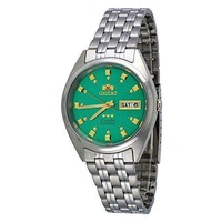 [Orient] Orient #FAB00009N Men's 3 Star Stainless Steel Green Dial Self Wind Automatic Watch [From USA] - intl