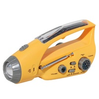 3 in 1 XANES XLN-288DUS 3 x LEDs Protable Solar Hand Crank USB Rechargeable Emergency Flashlight with Alarm & AM/FM Radio & Powerbank
