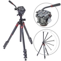 """3Pod Orbit Aluminum Tripod for DSLR Photo & Video Cameras, 4 Section Extension Legs, with Q3 Fluid Video Head, Bubble Level, with Bag. 69"""" - intl"""