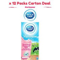 Dutch Lady UHT Strawberry Milk x 12 Packs 1 Litre Carton Deal