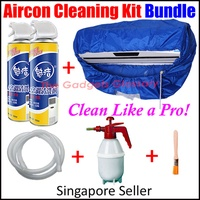 ★Aircon Cleaner Kit Bundle★Air Conditioner Servicing Cleaning Bag★Foam Spray★Value Pack