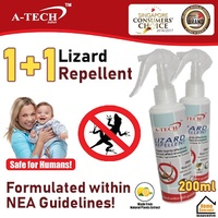 1+1 ★ A-TECH™ ★【Lizard Repellent】 ★ Lizard Spray ★ Repel Lizard ★ Non-Toxic ★ SG Local Supplier