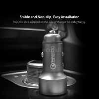 Ecmall Xiaomi 70Mai Car Charger Quick Charge 3.0 Dual USB Output Multiple Protection Fast Car Charge