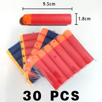 30Pcs 9.5x1.8cm Red Sniper Rifle Bullets Darts for Nerf Mega Kids Toy Gun Foam Refill Darts Big Hole Head Bullets Gift HongChi
