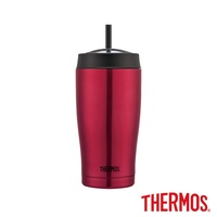 【THERMOS 膳魔師】不鏽鋼真空吸管隨行瓶0.65L(TS405PK)