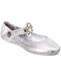 Tory Burch Leather Ballerina Flat