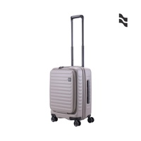 LOJEL CUBO 21吋登機箱 大地灰【五福居家生活館】前開擴充行李箱