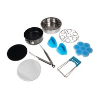 9Pcs Replacement Accessories for Instant Pot Stainless Steel Springform Pan Egg Steamer Rack Steamer Basket