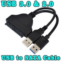 """USB 3.0 To Laptop 22P 2.5"""" SSD HDD Hard Drive SATA 3 Adapter Converter Cable - intl"""